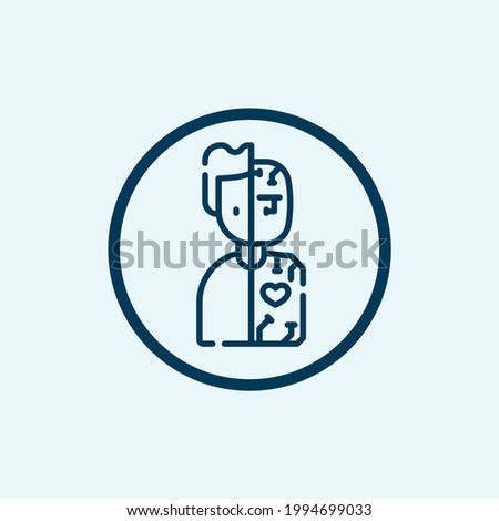 Humanoid icon isolated on white background from artificial intelligence and future technology collection. Humanoid icon trendy and modern Humanoid symbol for logo, web, app Stock fotó ©