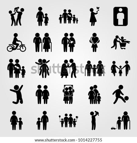 humans vector icon set human