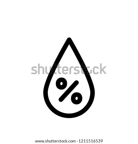 Humidity drop line vector icon