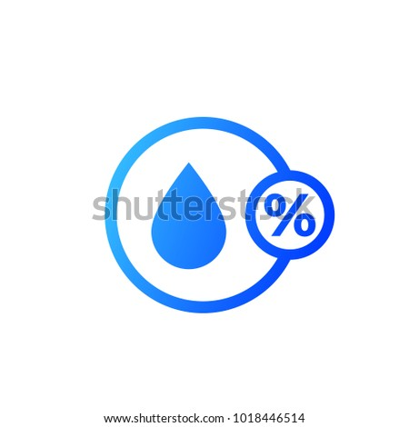 Humidity, hygrometer vector icon