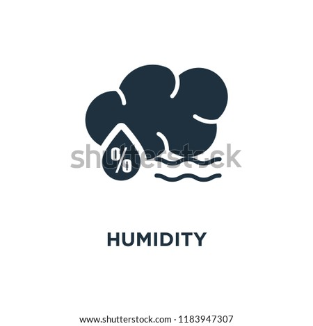 Humidity icon. Black filled vector illustration. Humidity symbol on white background. Can be used in web and mobile.