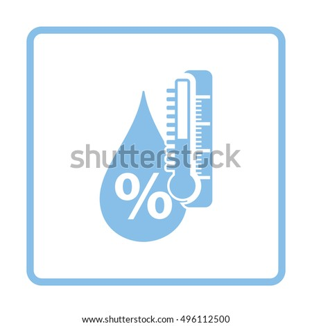Humidity icon. Blue frame design. Vector illustration.