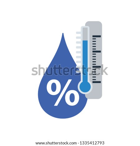 Humidity icon. Flat color design. Vector illustration.