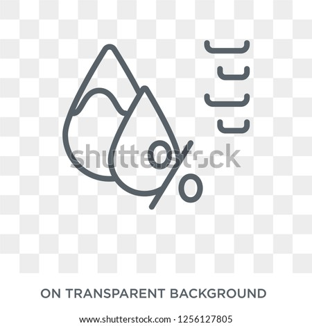 Humidity icon. Humidity design concept from  collection. Simple element vector illustration on transparent background.
