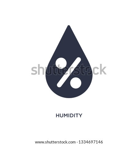 humidity icon. Simple element illustration from meteorology concept. humidity editable symbol design on white background. Can be use for web and mobile.