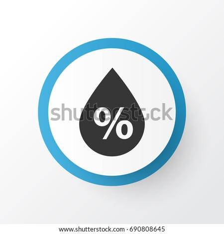 Humidity Icon Symbol. Premium Quality Isolated Moisture Element In Trendy Style.
