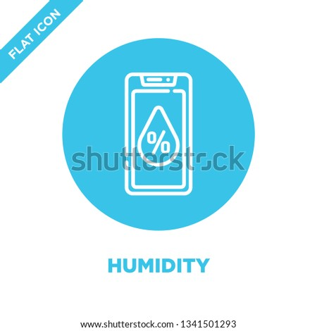 humidity icon vector from smart home collection. Thin line humidity outline icon vector  illustration. Linear symbol for use on web and mobile apps, logo, print media.