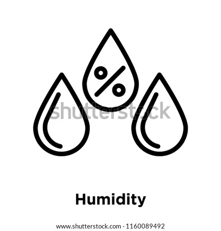 Humidity icon vector isolated on white background, Humidity transparent sign , line and outline elements in linear style