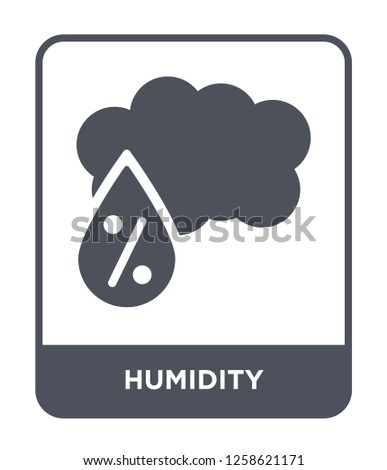 humidity icon vector on white background, humidity trendy filled icons from Meteorology collection, humidity simple element illustration