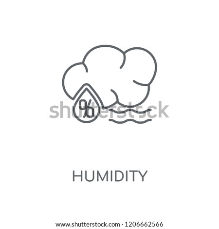 Humidity linear icon. Humidity concept stroke symbol design. Thin graphic elements vector illustration, outline pattern on a white background, eps 10.