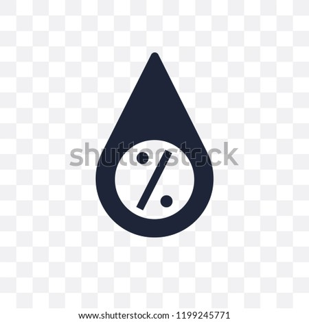 Humidity transparent icon. Humidity symbol design from Weather collection. Simple element vector illustration on transparent background.