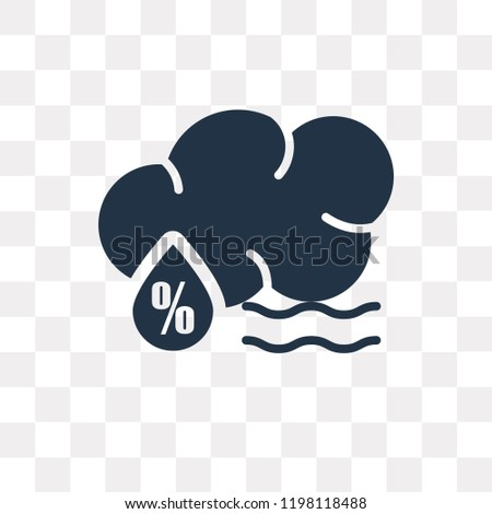Humidity vector icon isolated on transparent background, Humidity transparency concept can be used web and mobile