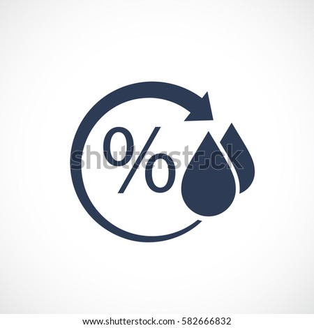 Humidity vector pictogram illustration on white background