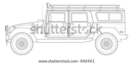 hummer h1 4wd utility vehicle