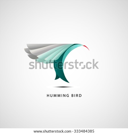humming bird logo vector design