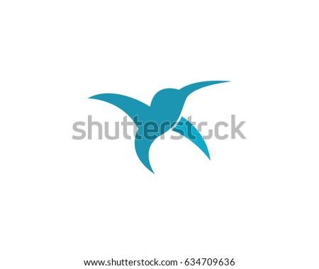 hummingbird logo template ez canvas