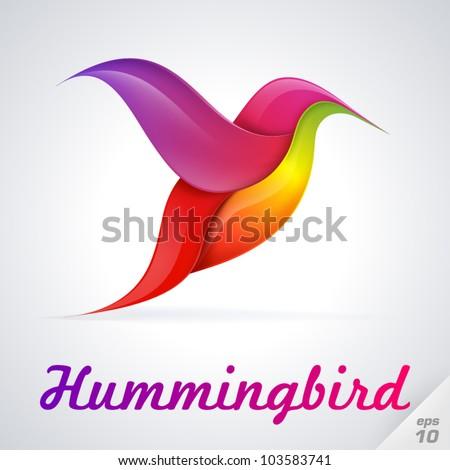 Hummingbird symbol. Vector Illustration