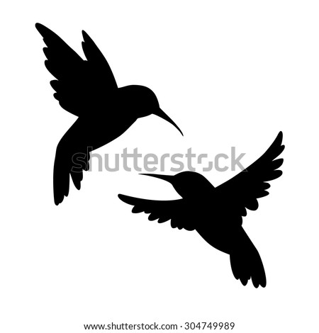 hummingbirds silhouette