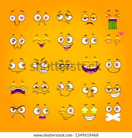 humorous emoji set emoticon