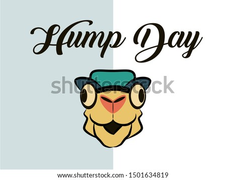hump day illustration happy