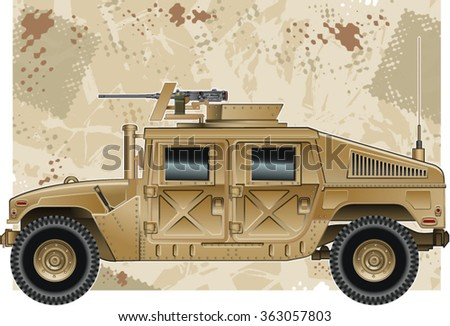 humvee military vehicle with