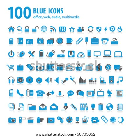 hundred blue icons