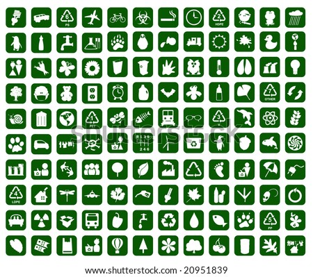 hundred of environmental icons