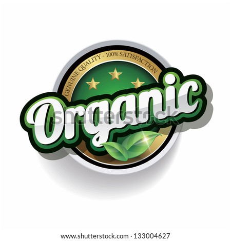 Hundred percent vector organic label