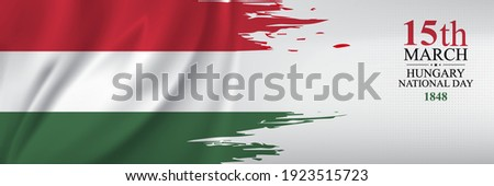 Hungary National Day greeting card. The Hungarian Revolution of 1848. Creative Design Illustration Vector Foto d'archivio ©