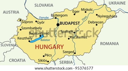Hungary - vector map