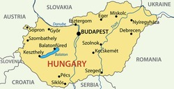 Hungary - vector map of country