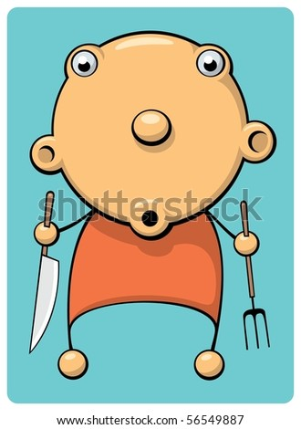 Hungry Baby - stock vector