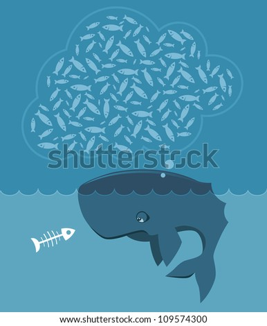 Hungry whale