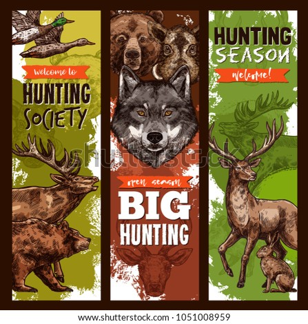 hunt club sketch banners for