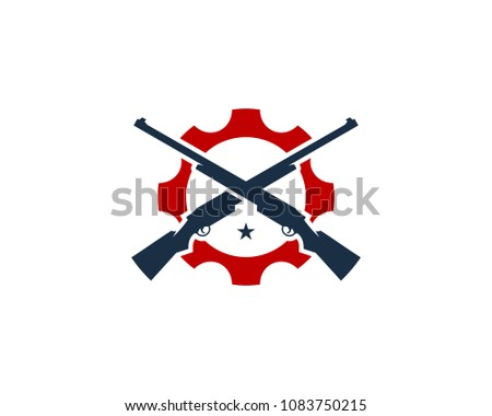 Hunt Gear Icon Logo Design Element
