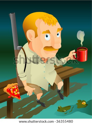 hunter - stock vector