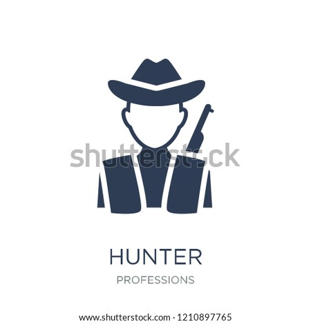 Hunter icon. Trendy flat vector Hunter icon on white background from Professions collection, vector illustration can be use for web and mobile, eps10
