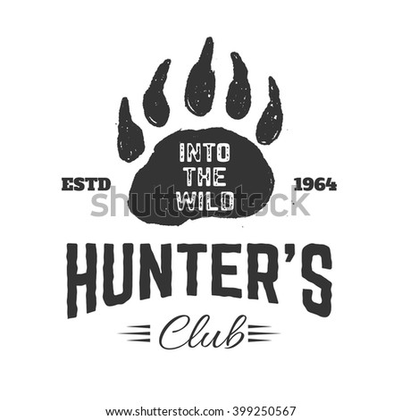 hunter's club label template