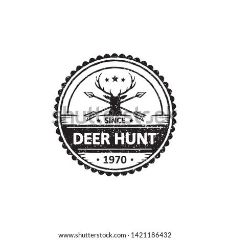 hunter sport badges, labels, emblems and logo