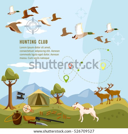 hunting background  flying duck