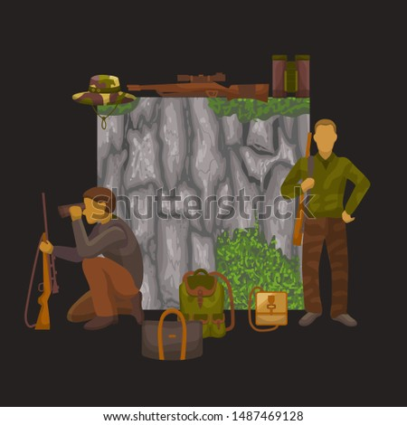hunting banner vector