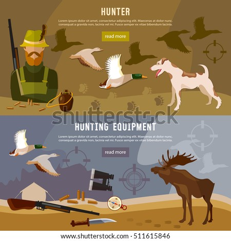 hunting banners  hunter with
