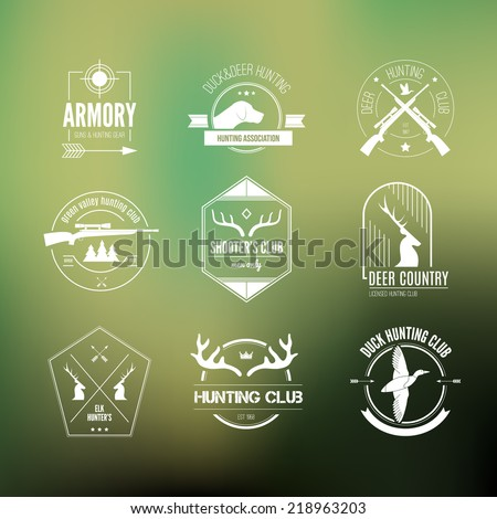 hunting club label collecton