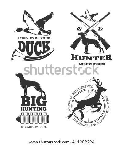 hunting club vintage vector