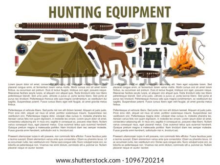 hunting equipment infographic