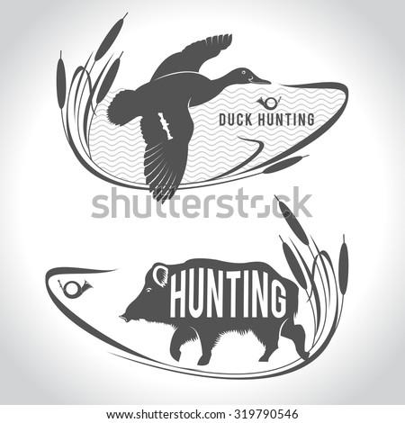 hunting hunting logo wild