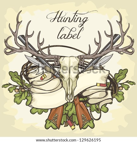 Hunting Logos Designs Hunting Label Design With