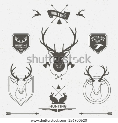 Hunting labels set