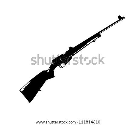 hunting modern rifle vector