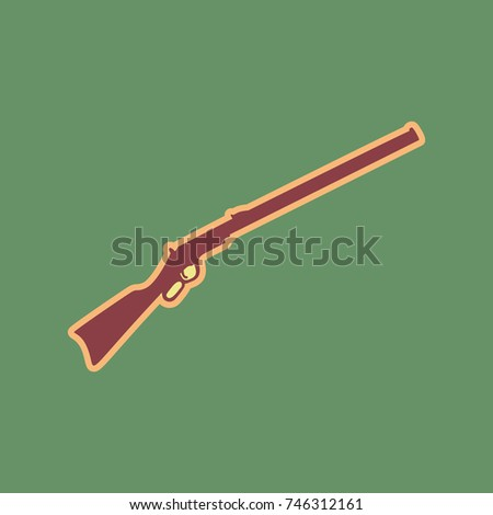 hunting rifle icon vector